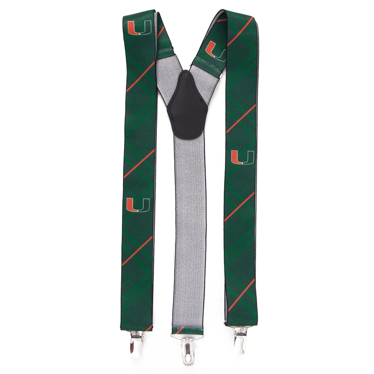 University of Miami Suspenders - Full View