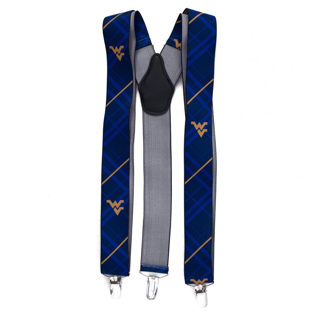 West Virginia University Suspenders - Front View