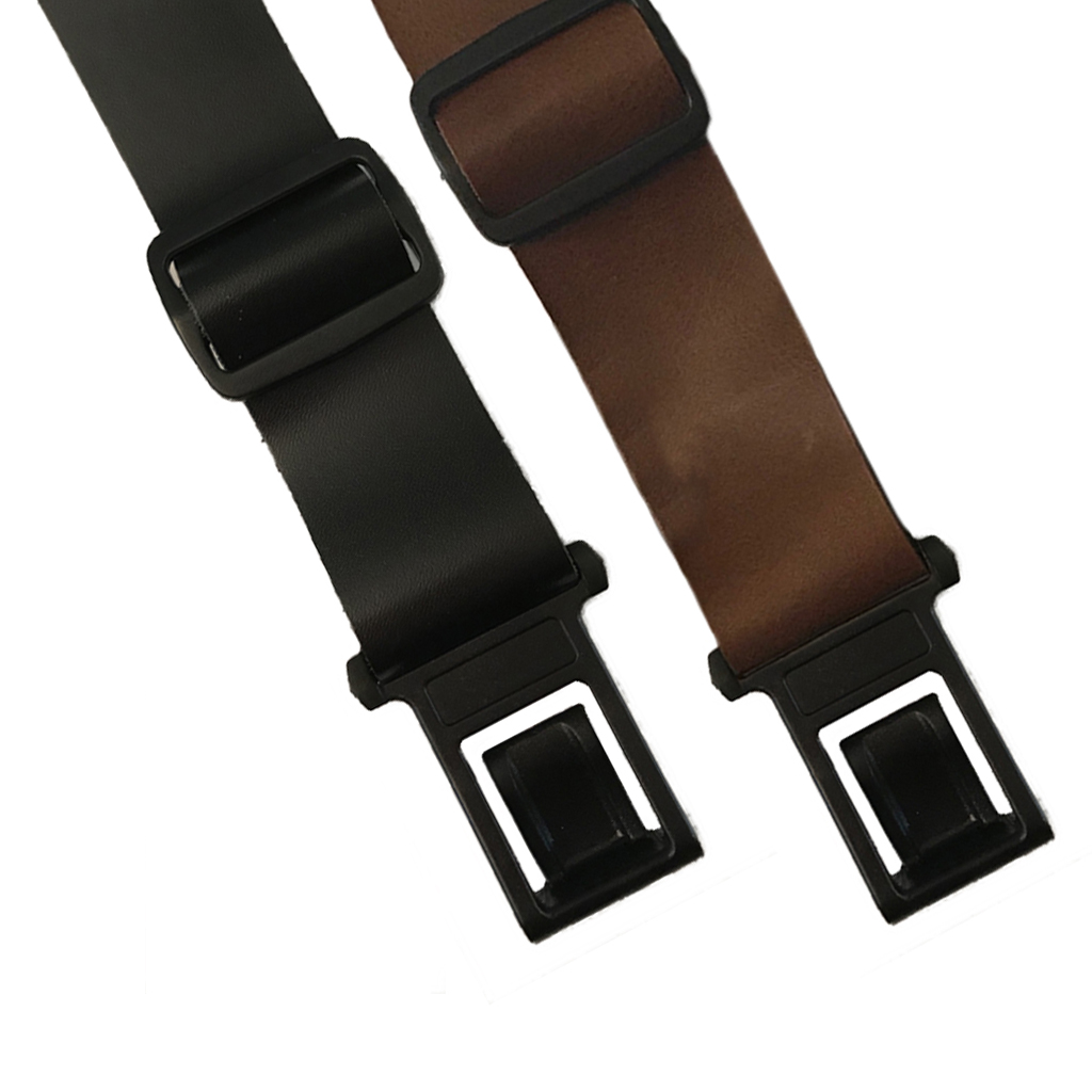 Perry Suspenders - Front View - 1.5-Inch Leather All Colors