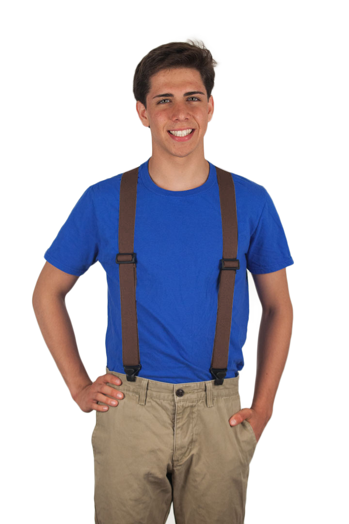 Brown Airport Friendly Suspenders - BuzzNot Clip
