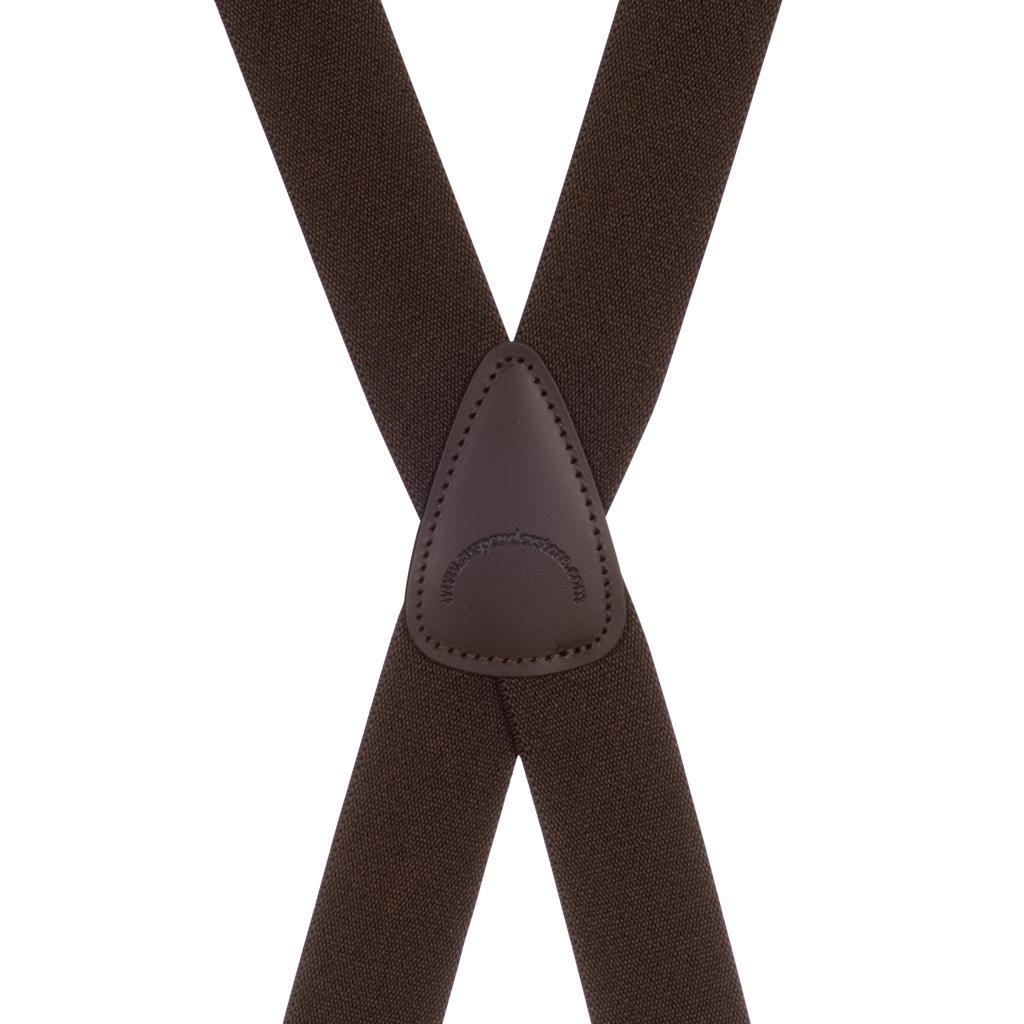 BuzzNot Suspenders in Brown - Rear View