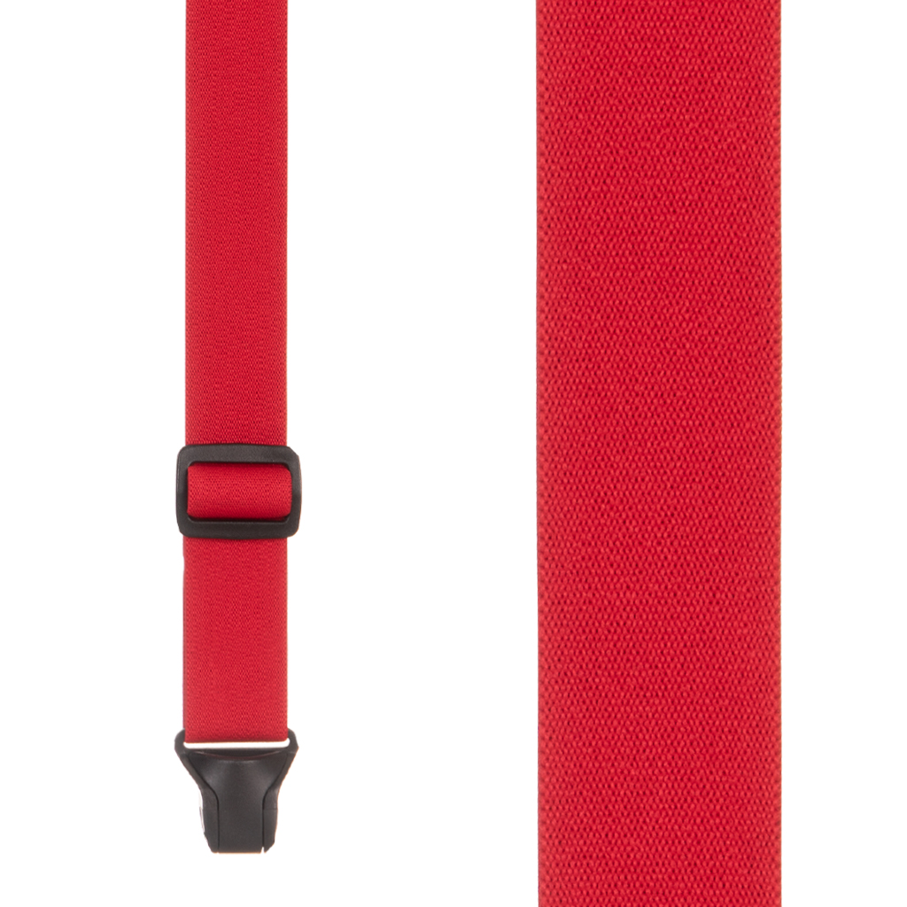 BuzzNot Suspenders in Red - Front View