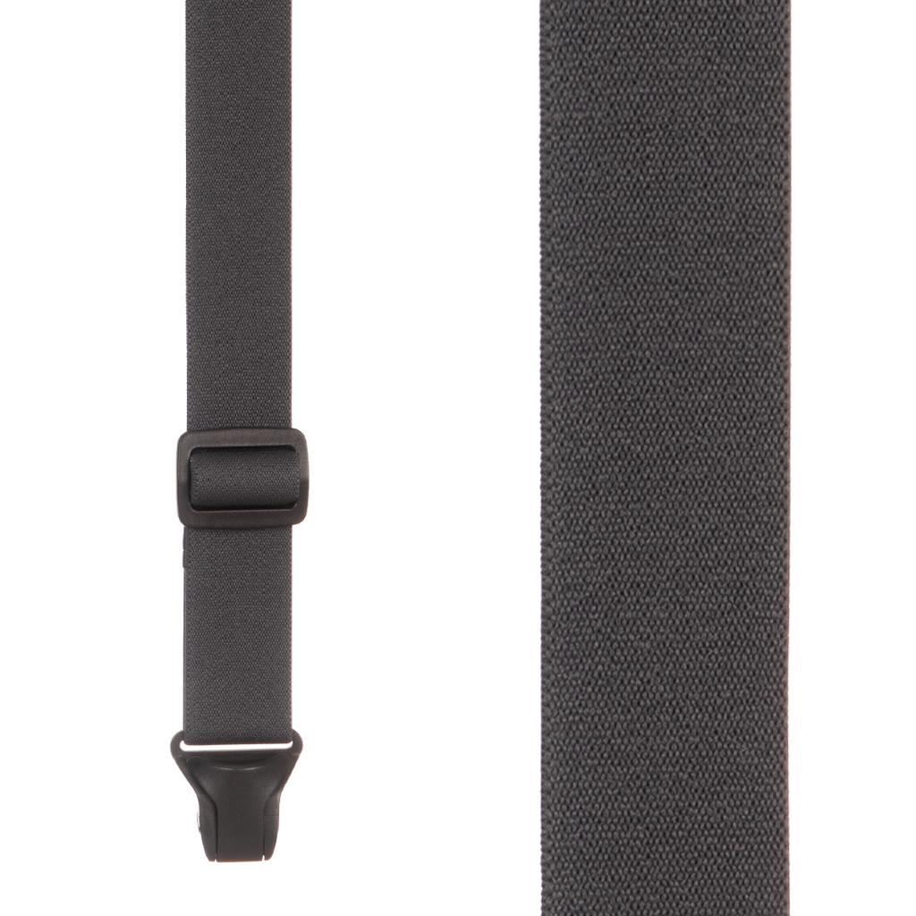 BuzzNot Suspenders in Grey - Front View
