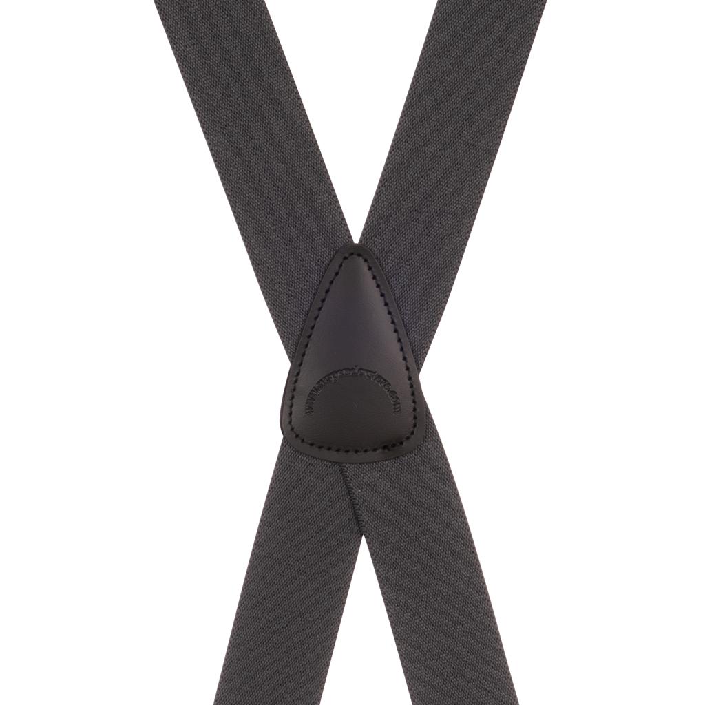 BuzzNot Suspenders in Grey - Rear View