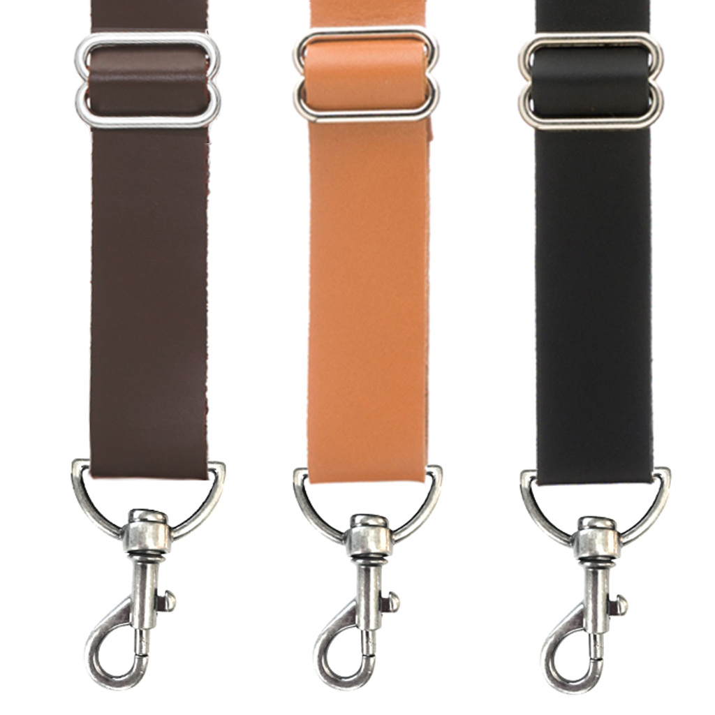 Leather Trigger Snap Suspenders - All Colors