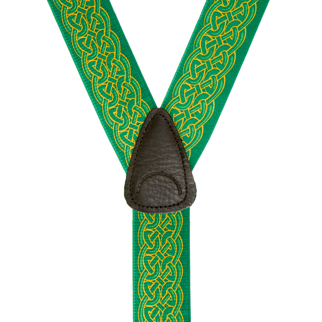 Celtic Scroll Suspenders - Rear View