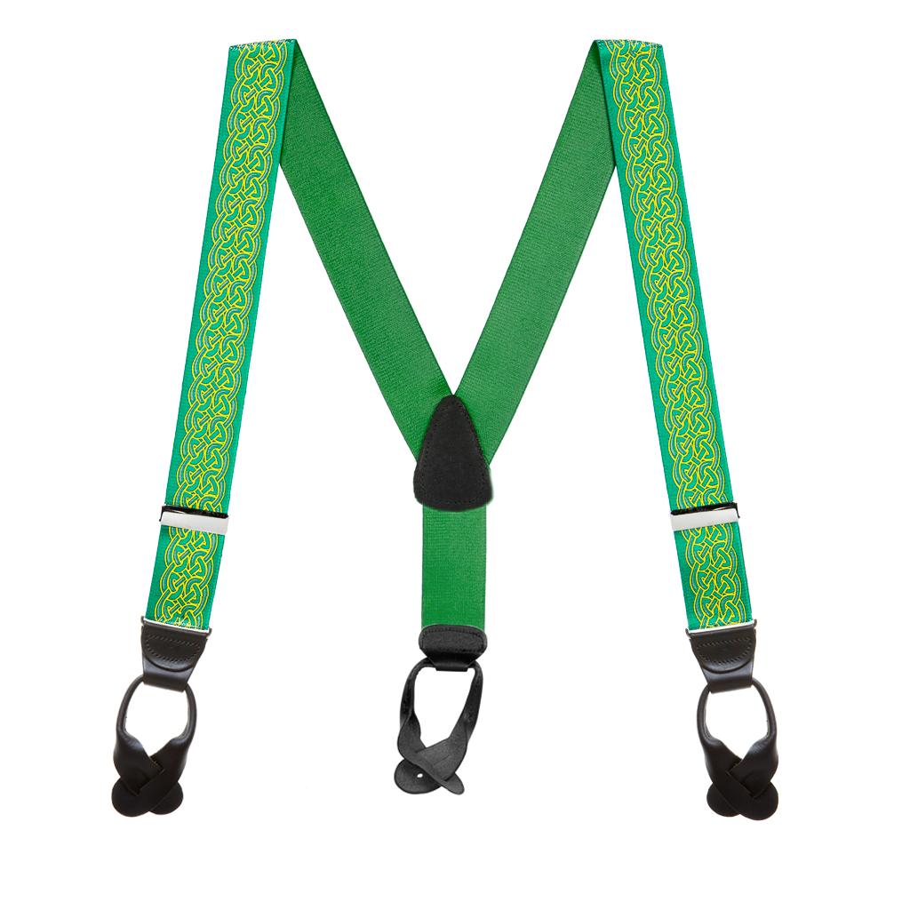 Celtic Scroll Suspenders - Full View
