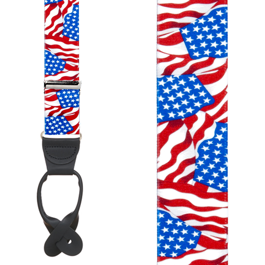 Old Glory Suspenders - Front View