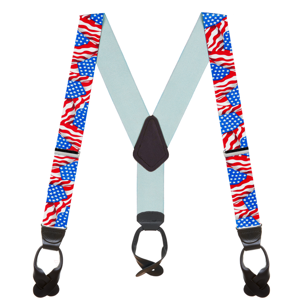 Old Glory Suspenders - Full View