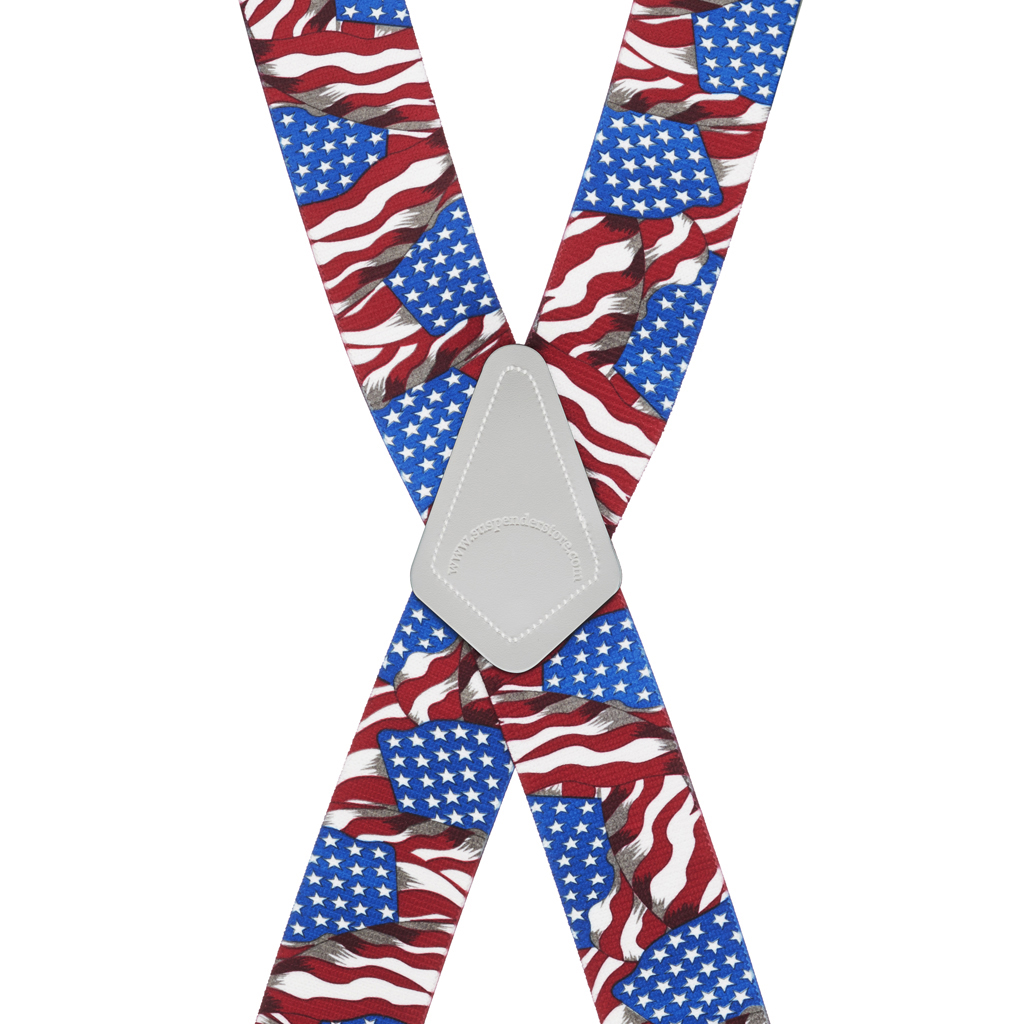 Old Glory Suspenders 1.5-Inch Clip - SALE