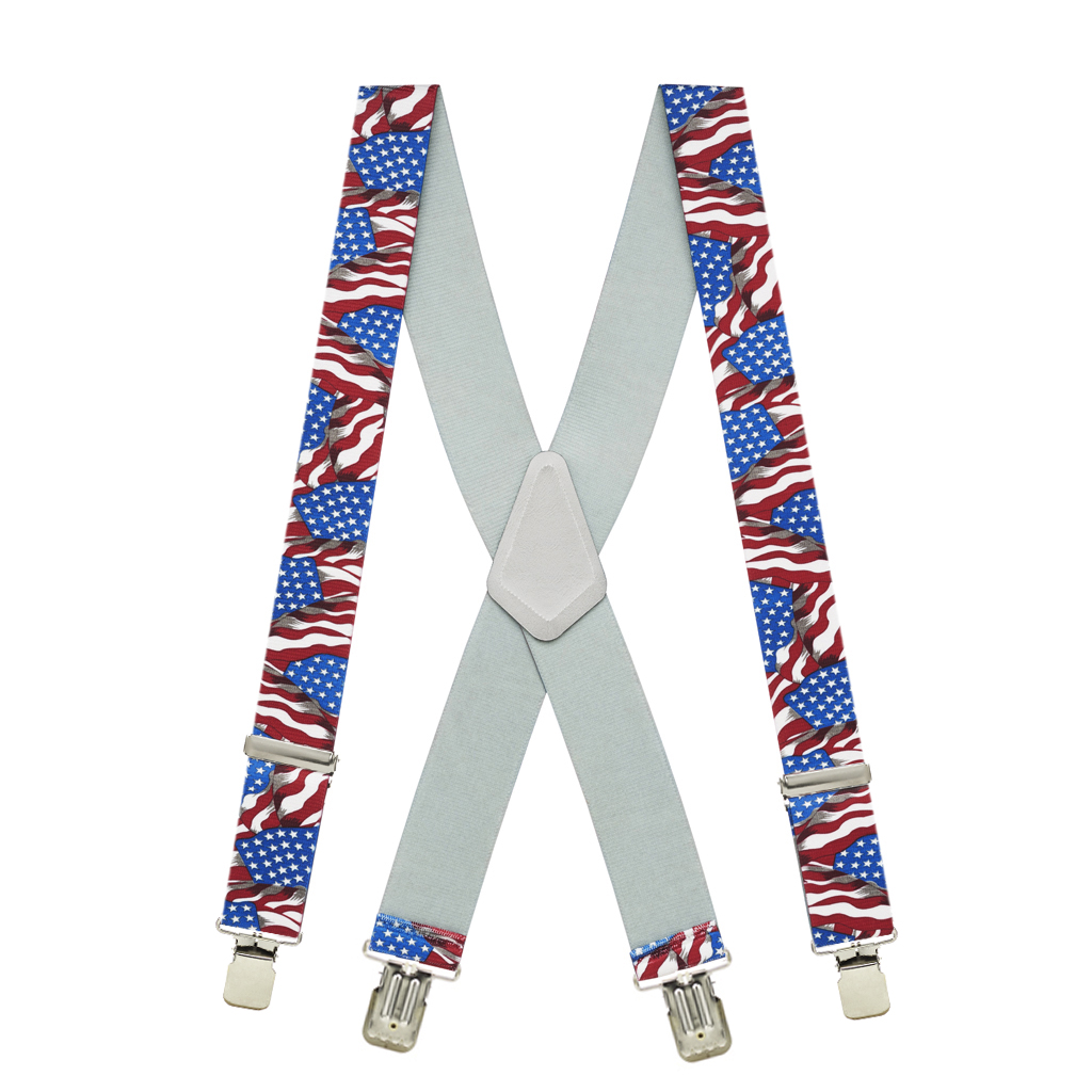 Old Glory Suspenders 1.5-Inch Clip Full View