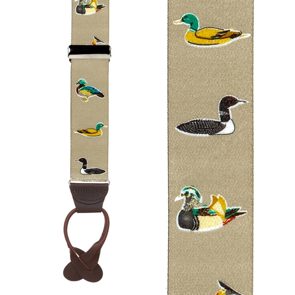 Duck Suspenders - Front View