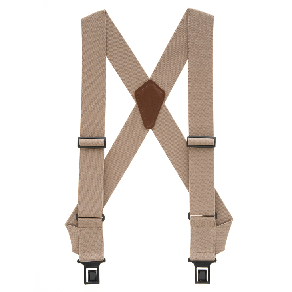 Perry Suspenders - Full View -Tan Big & Tall