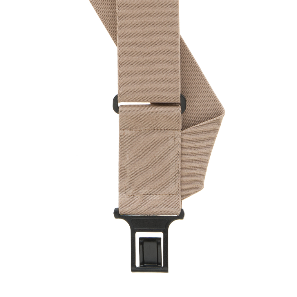 Perry Suspenders - Front View -Tan Big & Tall