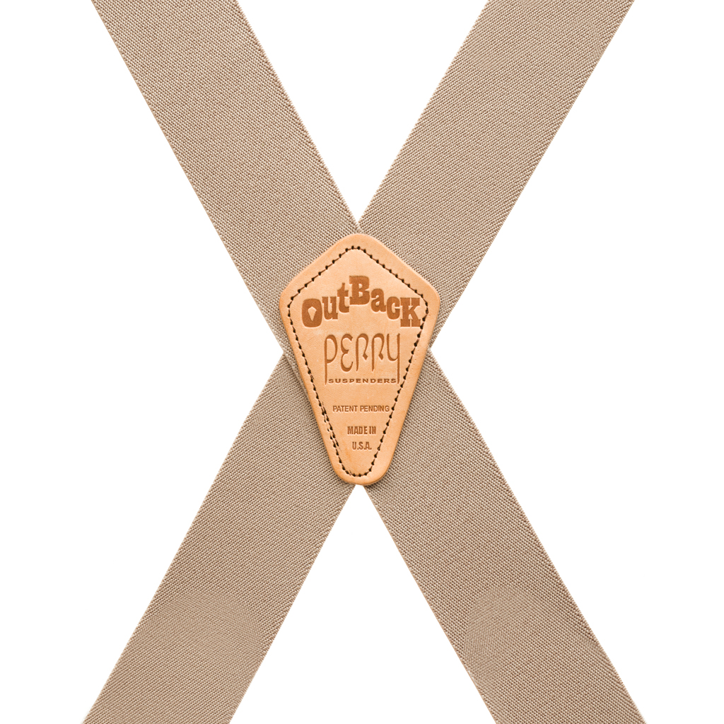Perry Clip Suspenders Side Clip Tan Rear View