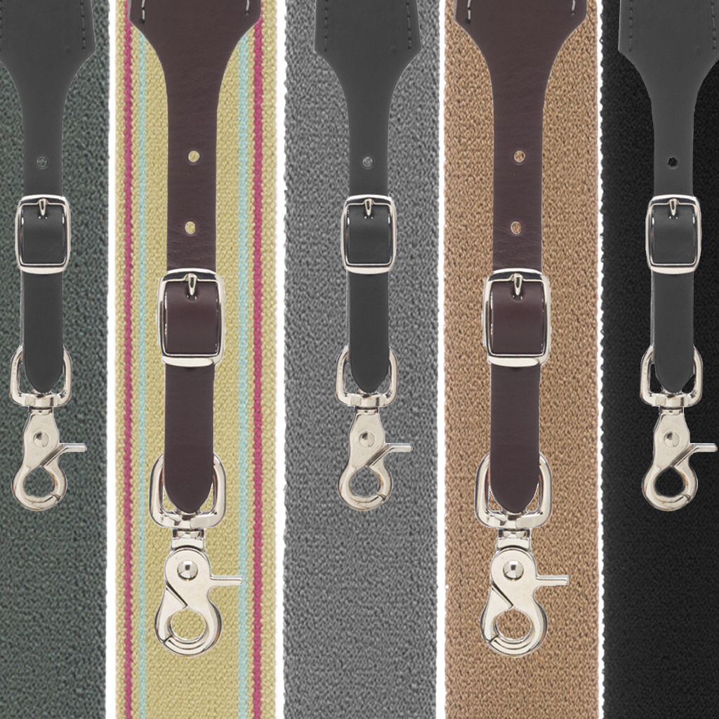 Rugged Comfort Suspenders Trigger Snap - All Colors