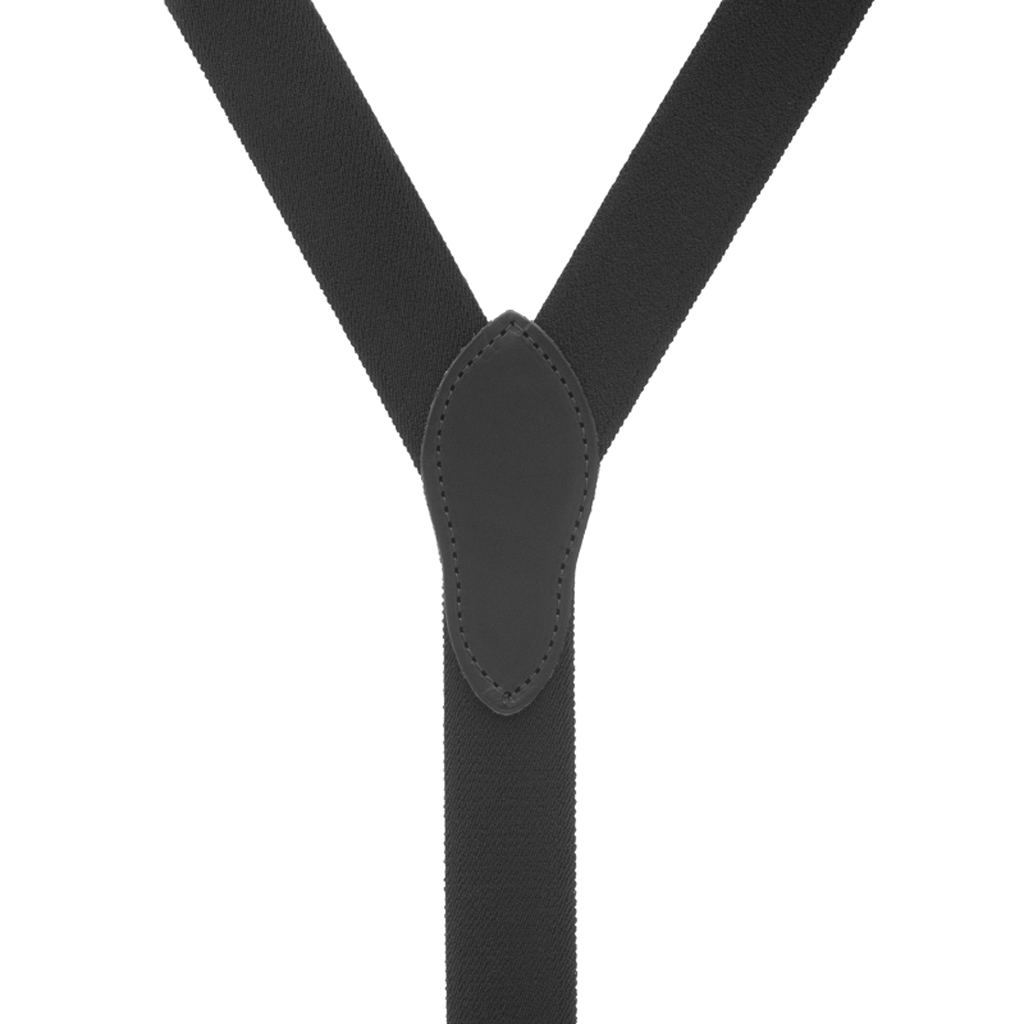 Rugged Comfort Suspenders Button in Black - Rear View