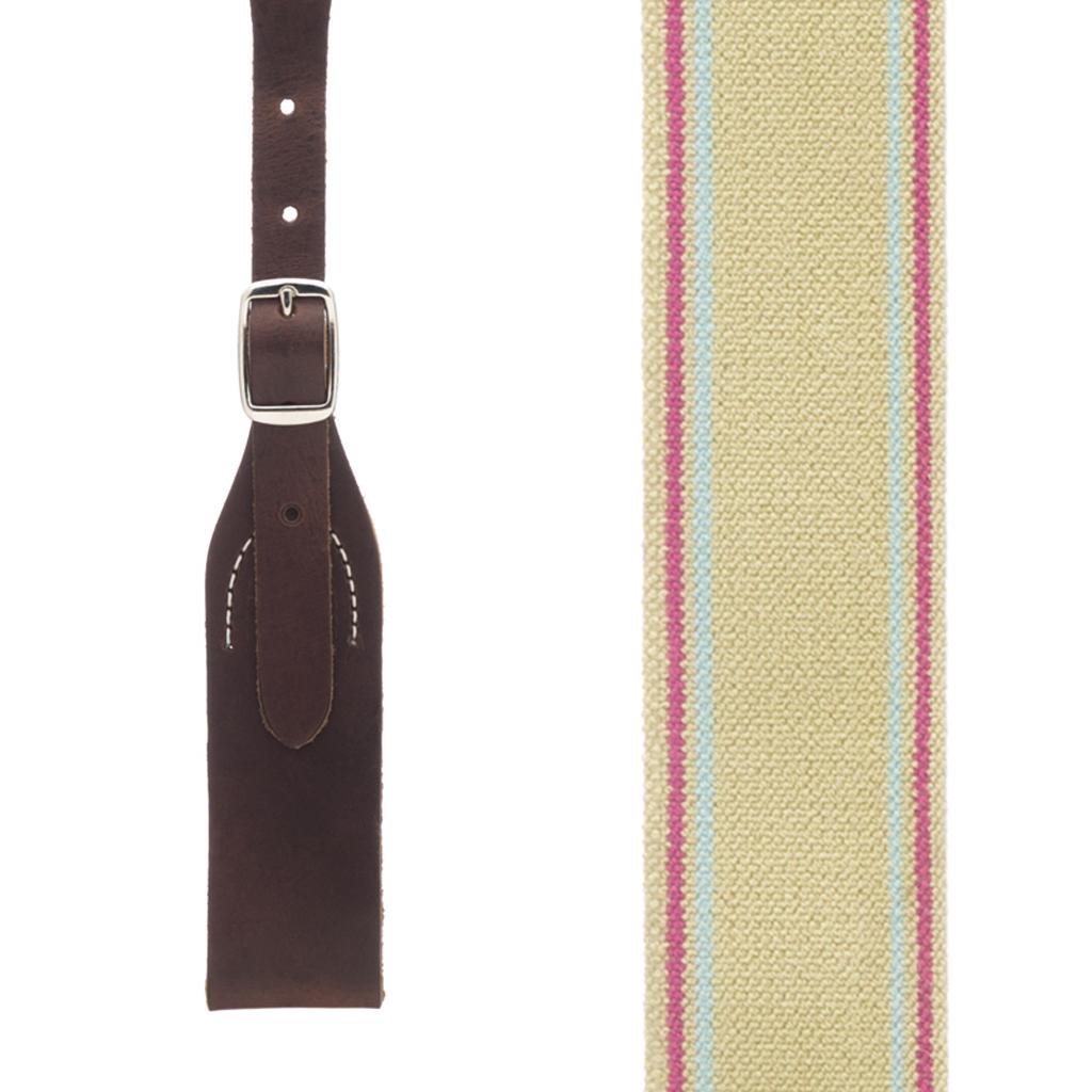 Rugged Comfort Suspenders Belt Loop in Sage - Front View