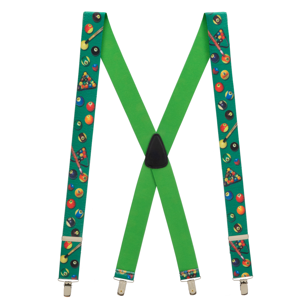 Pool Table Suspenders - Full View