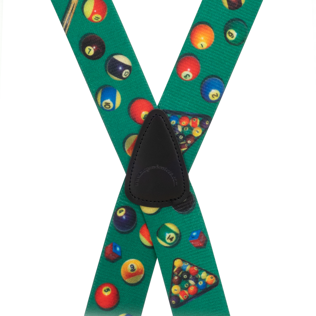 Pool Table Suspenders - Rear View