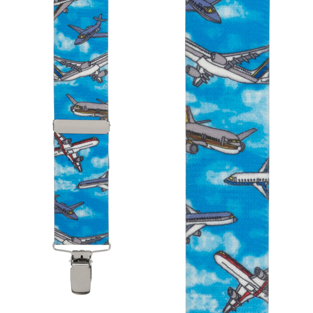Airplane Suspenders - Front View