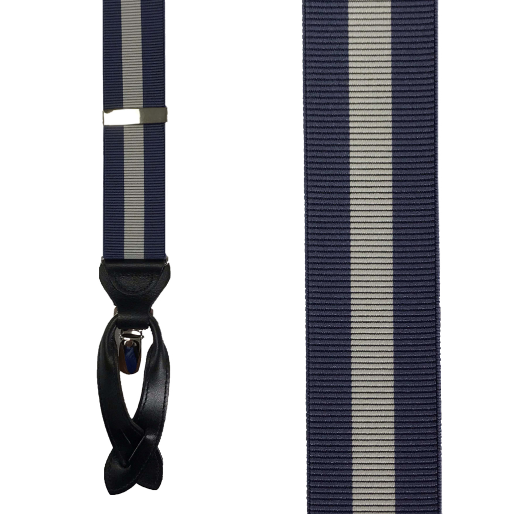 Convertible Stripe Suspenders - Front View