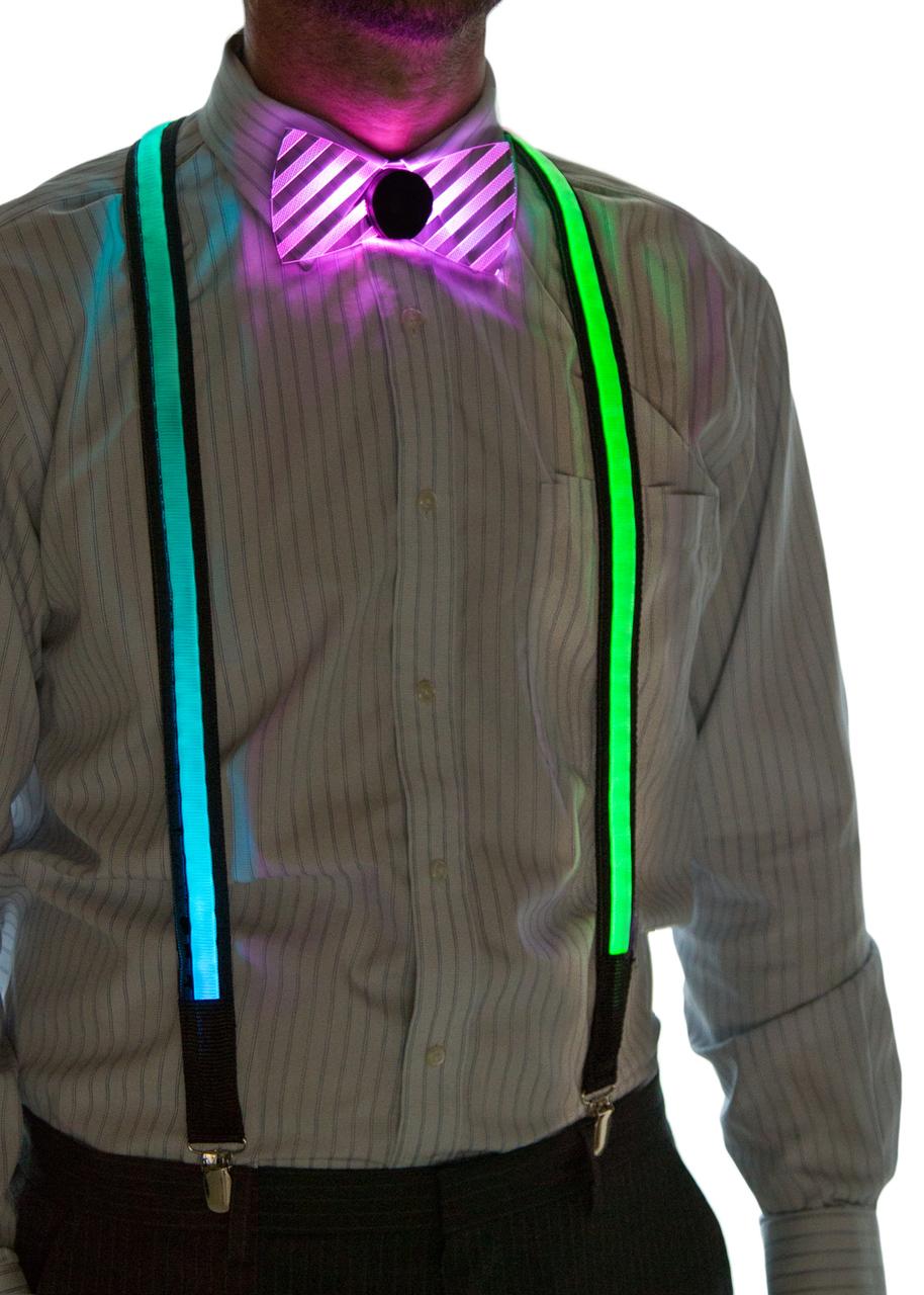 Light Up Suspenders on Model