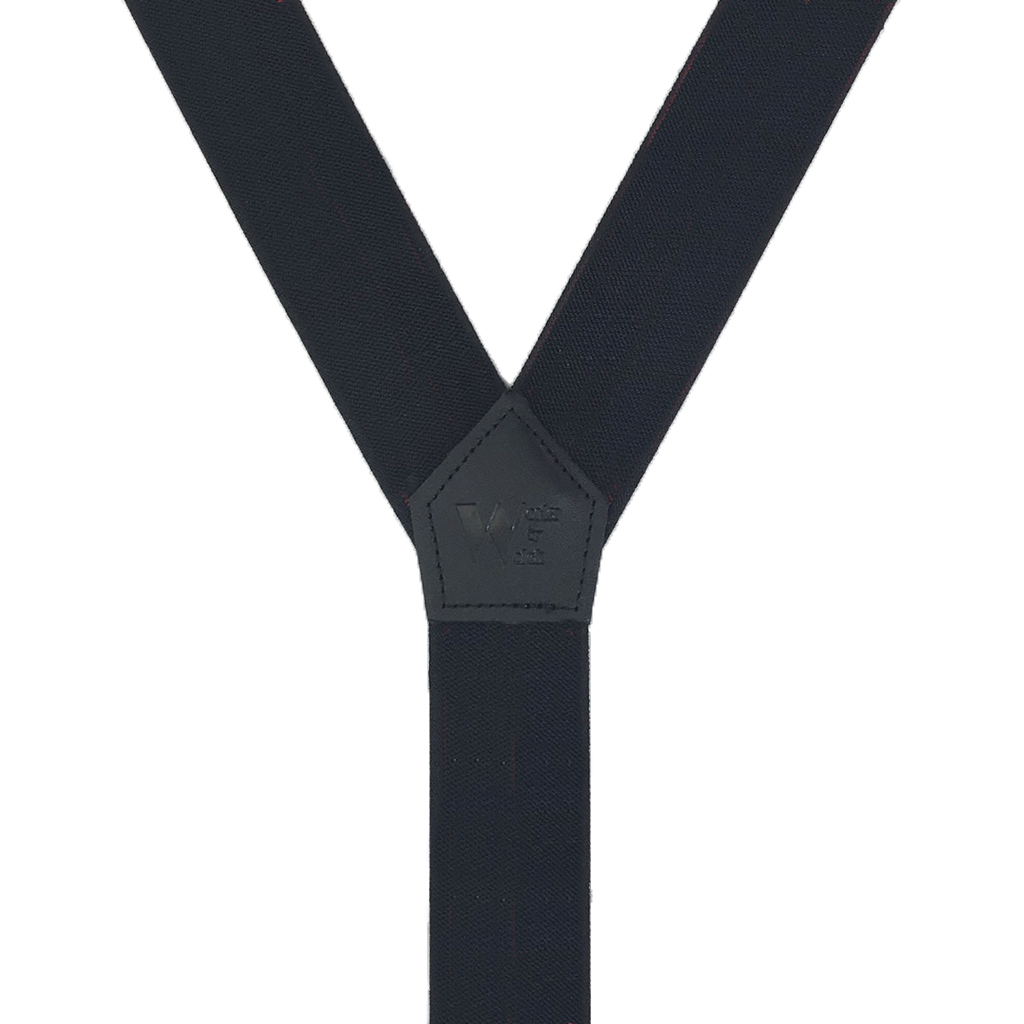 Welch Tuff Stuff Work Suspenders in Black - Rear View