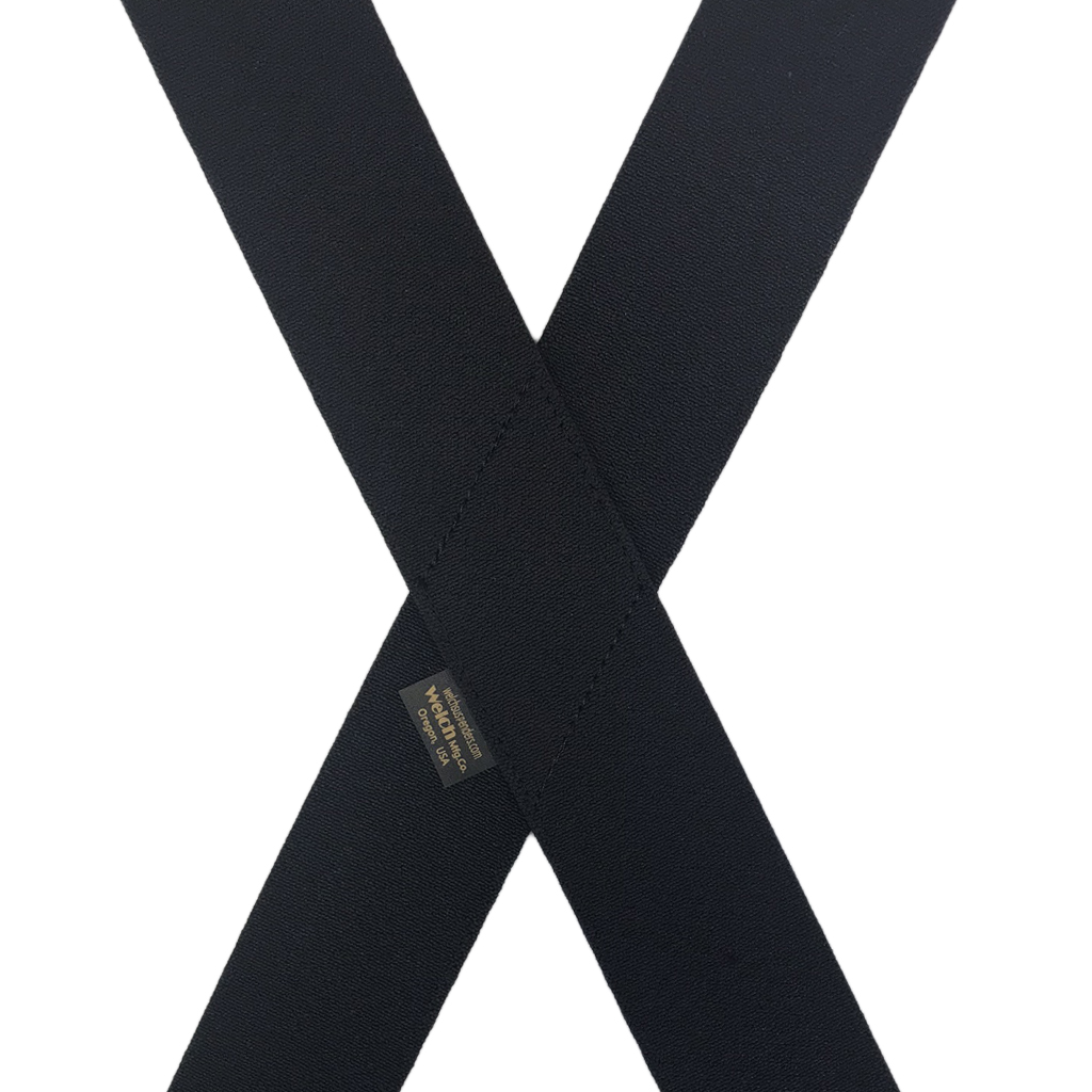 Welch Super Tuff Suspenders in Black - Rear View
