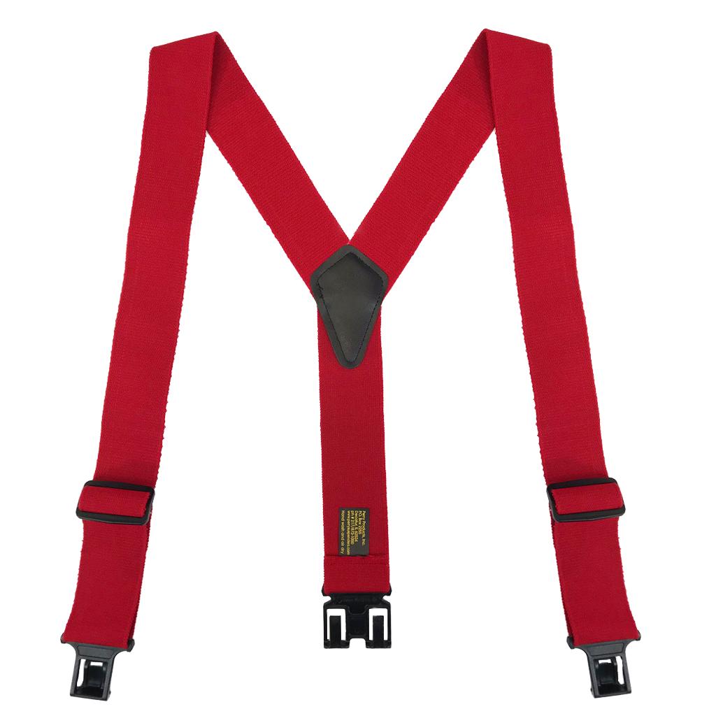 Perry Ruf-N-Tuf Suspenders in Red - Full View