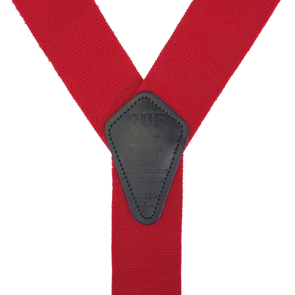 Perry Ruf-N-Tuf Suspenders in Red - Rear View