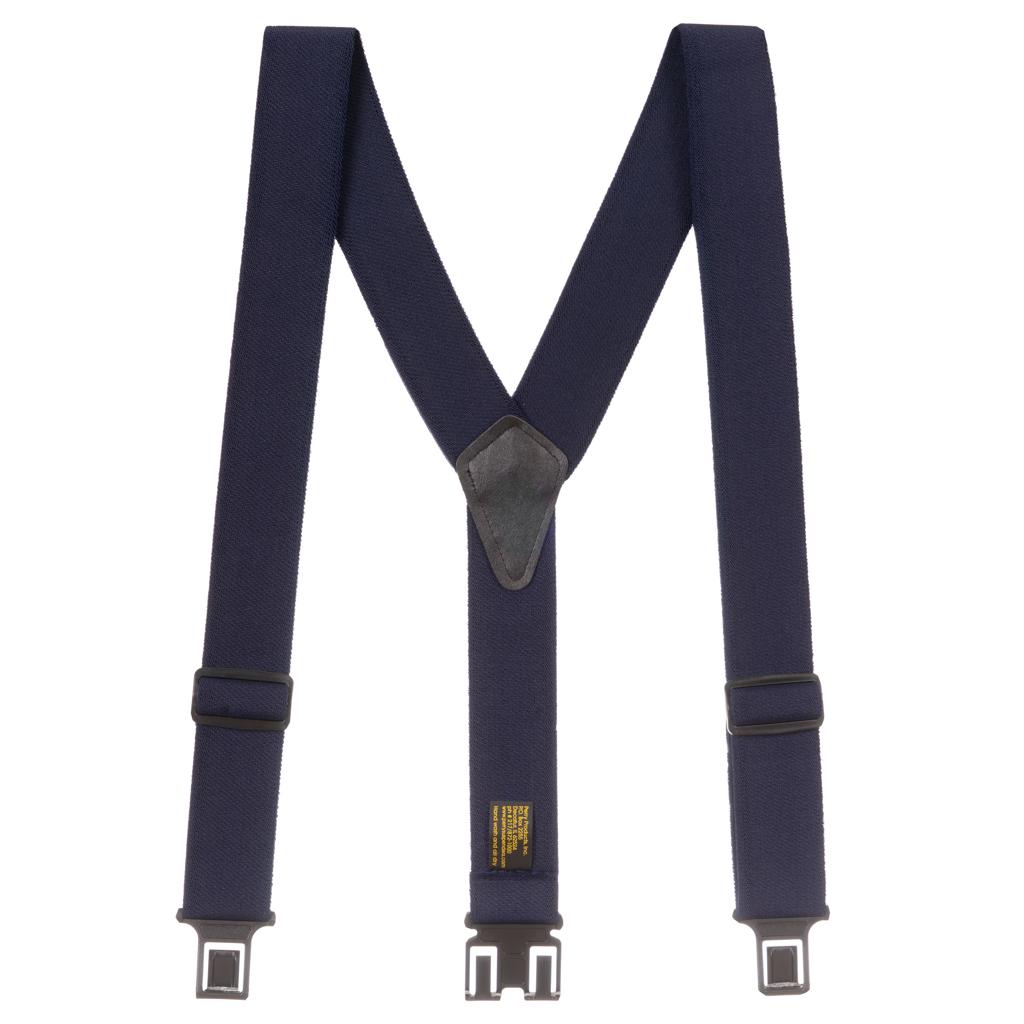 Perry Ruf-N-Tuf Suspenders in Navy Blue - Full View