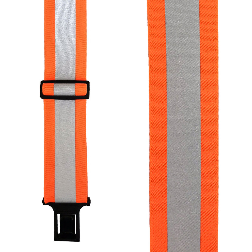 Perry Reflective Safety Suspenders in Orange - Front View