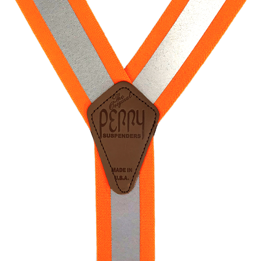 Perry Reflective Safety Suspenders in Orange - Rear View