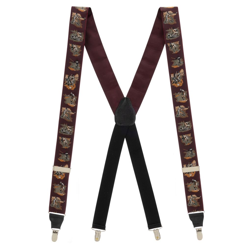 Vintage Ribbon America's Pastime Suspenders - Full View