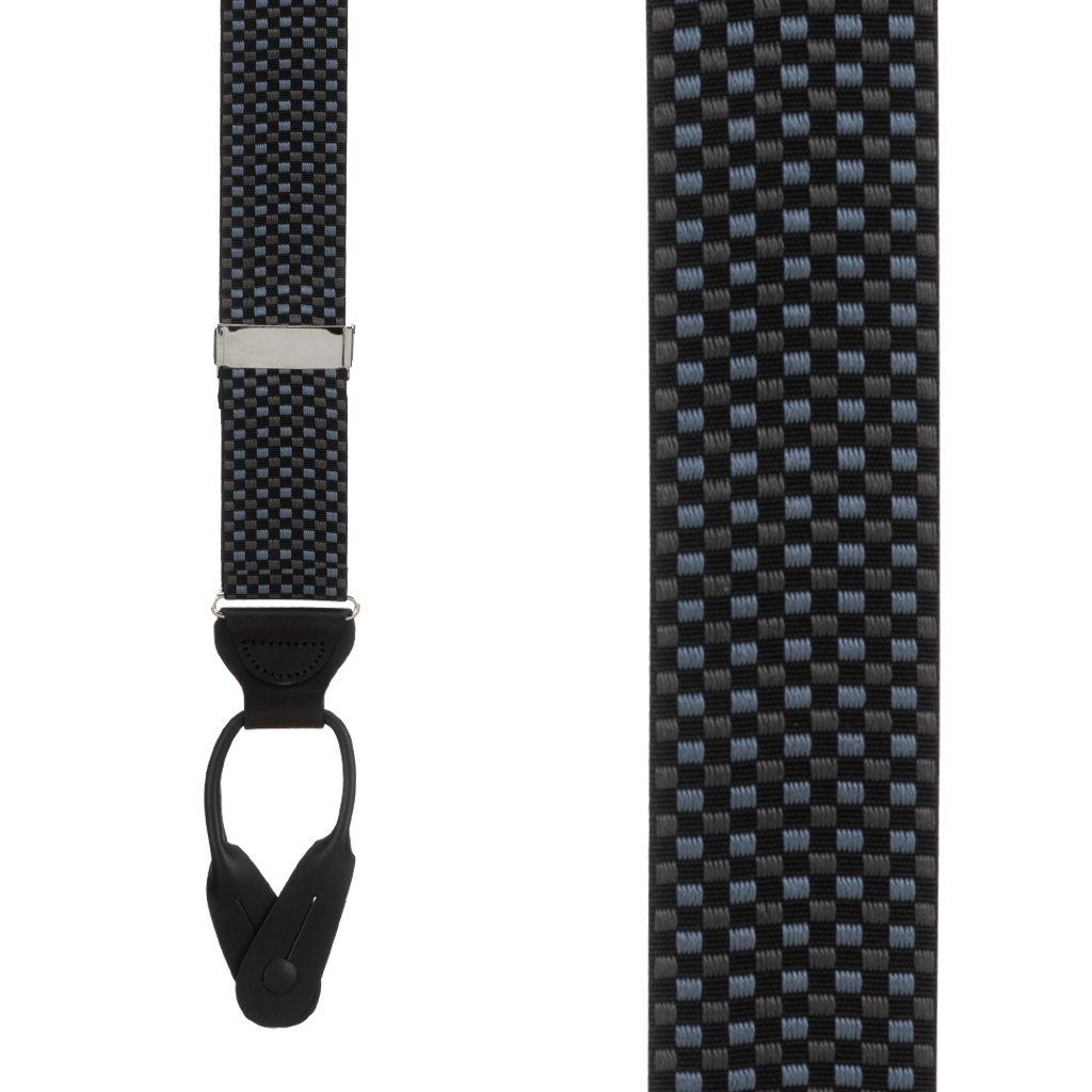 Fairfield Grosgrain BUTTON Suspenders - Front View