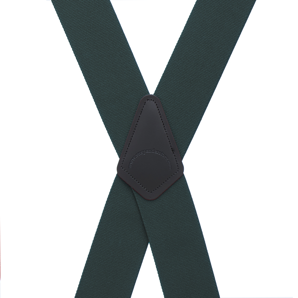 Logger Suspenders in Hunter Green - Rear View