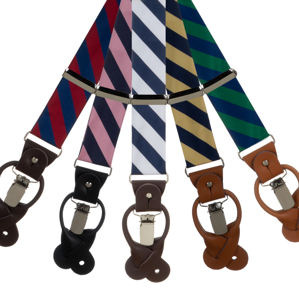 Striped Suspenders by Oxford Kent - All Colors