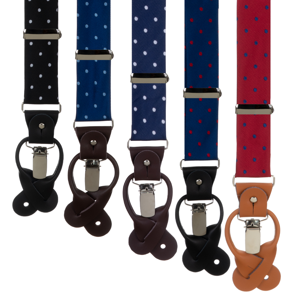 Polka Dot Suspenders by Oxford Kent - All Colors