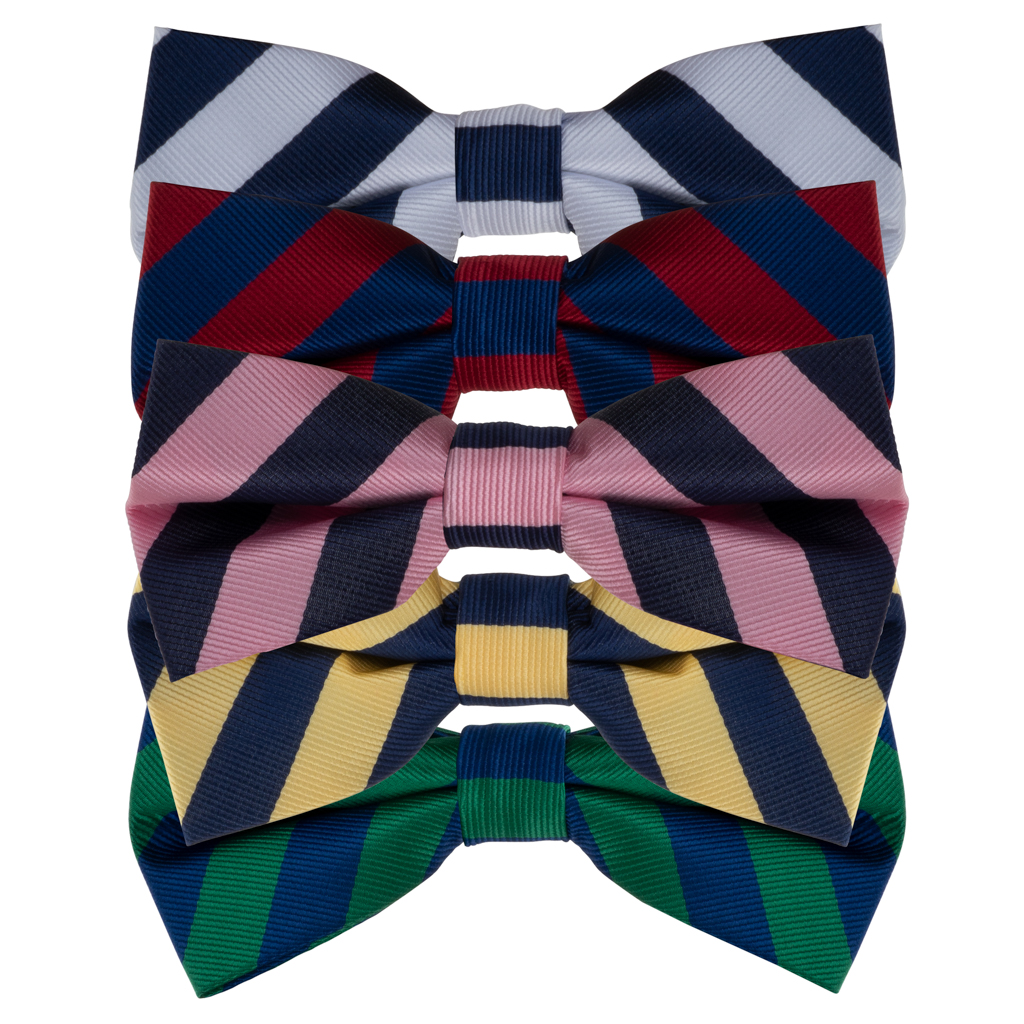 Striped Bow Ties by Oxford Kent - All Colors