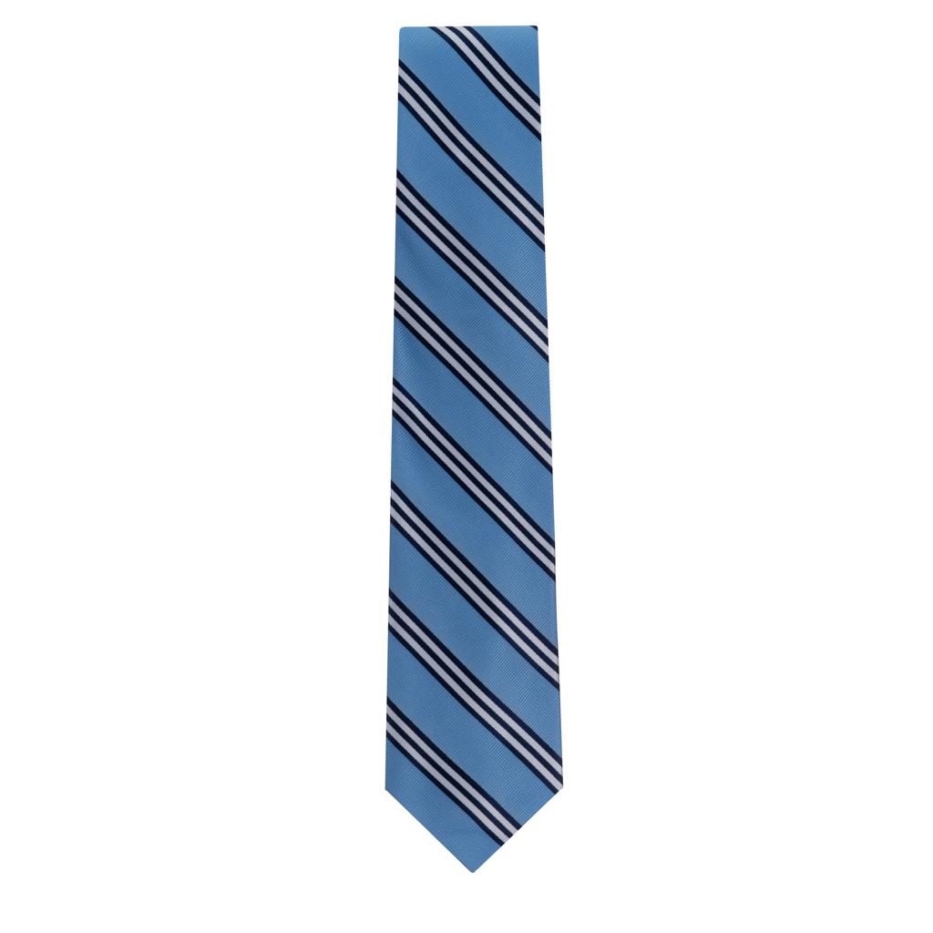 Copenhagen Necktie with Navy & White Stripes