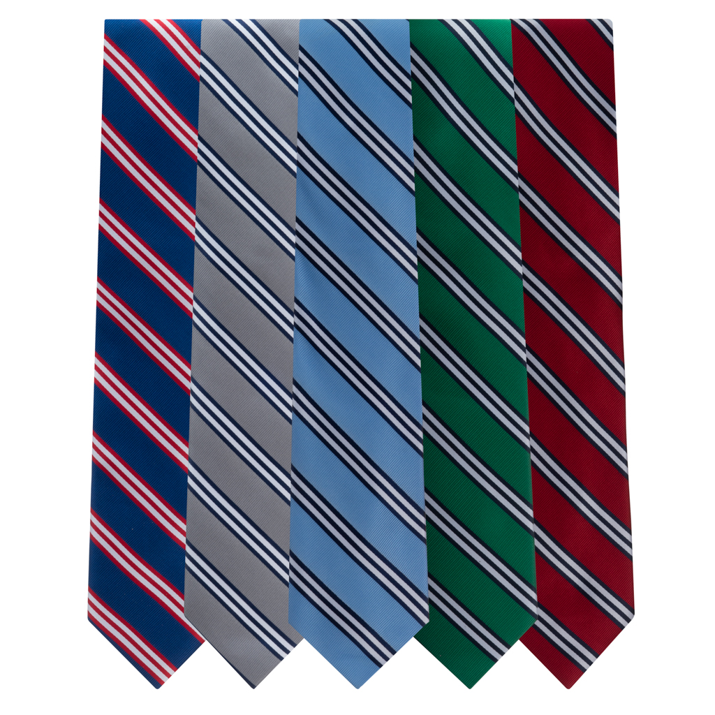 Multi-Stripe Neckties by Oxford Kent - All Colors