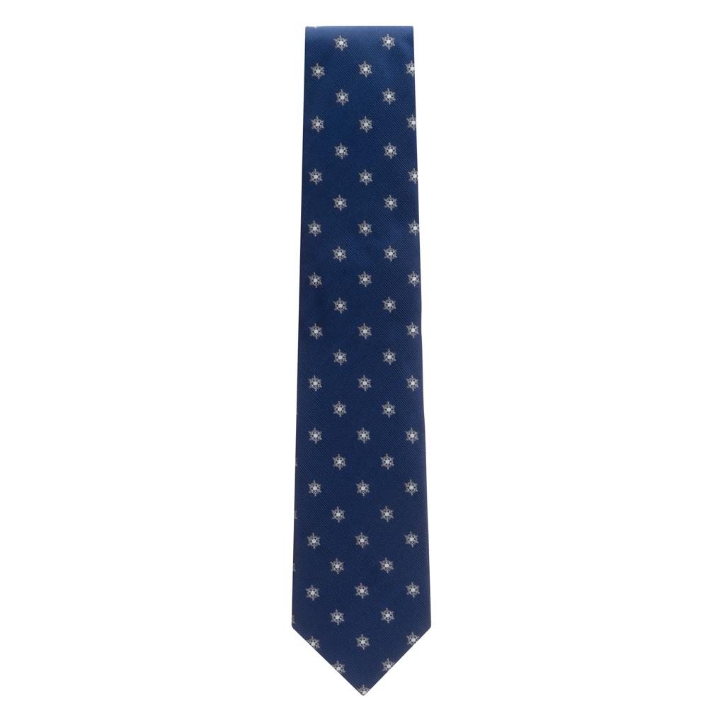 Snowflakes on Navy Necktie