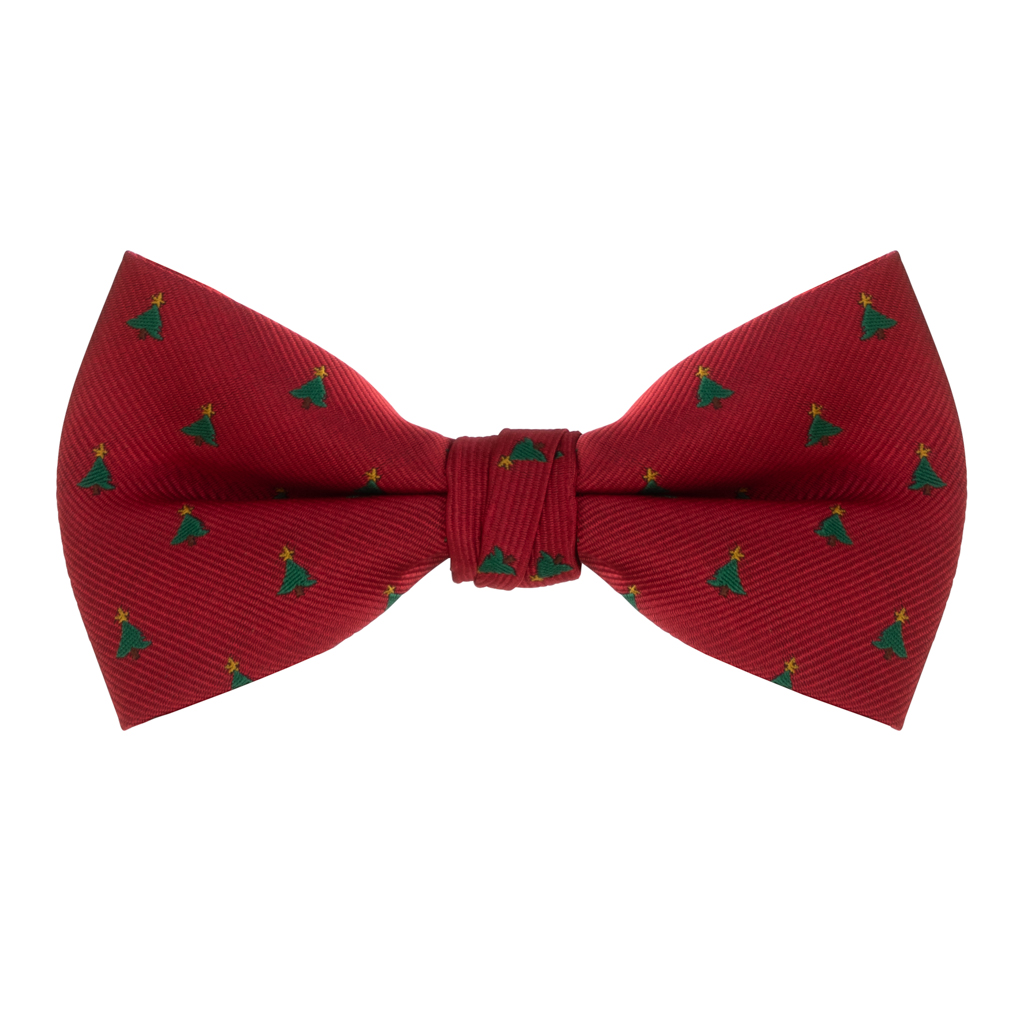Christmas Tree on Red Bow Tie