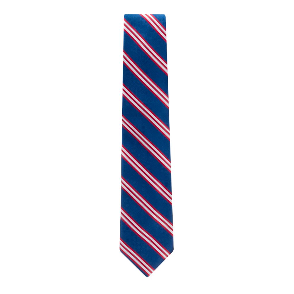 Navy & Red Multi-Stripe Necktie