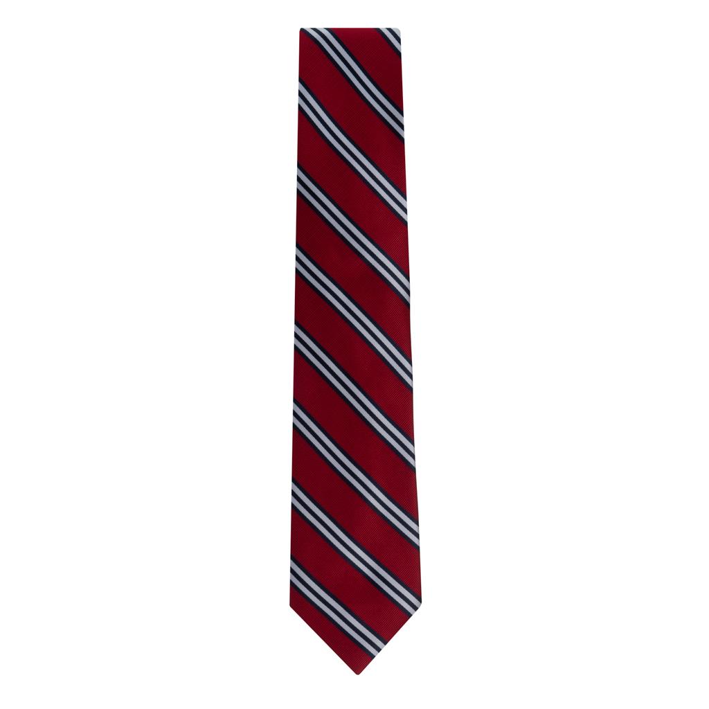 Red & Navy Multi-Stripe Necktie