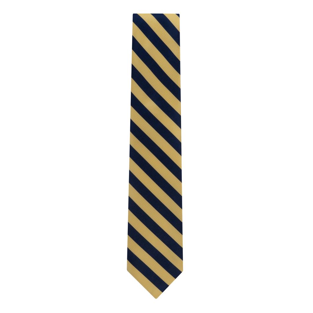 Corn & Navy Striped Necktie