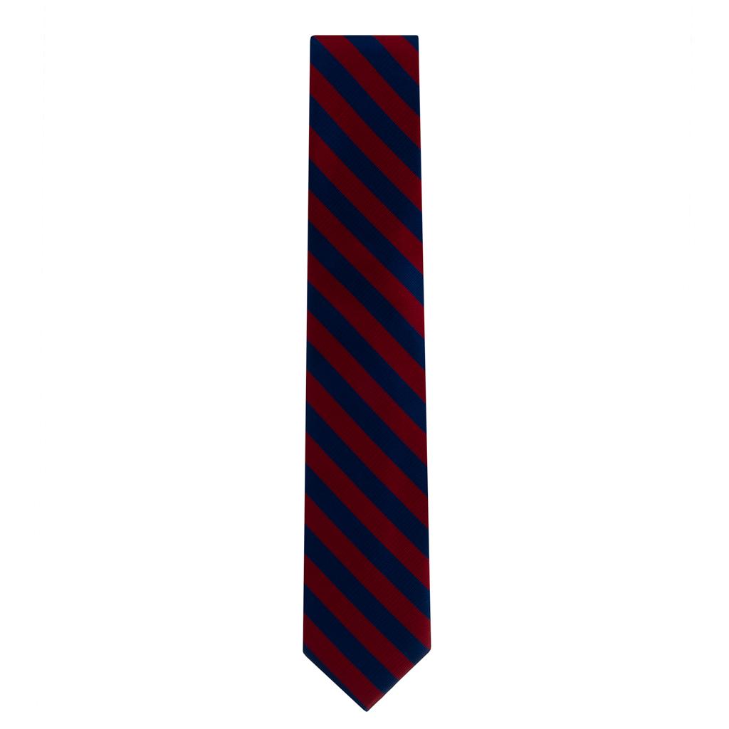 Red & Navy Striped Necktie