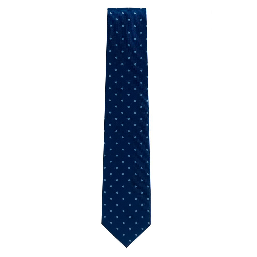 Navy With Copenhagen Polka Dots Necktie