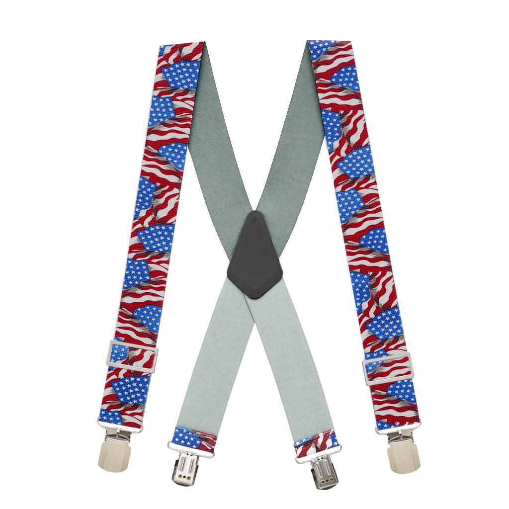 Old Glory Heavy Duty Work Suspenders - Full View